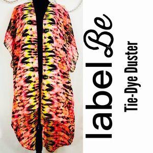 Label Be Plus Size Tie Dye Duster